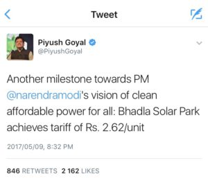 Tweet by Piysuh Goyal